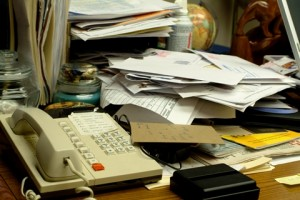 Office Clutter Creates Cleaning Challenges